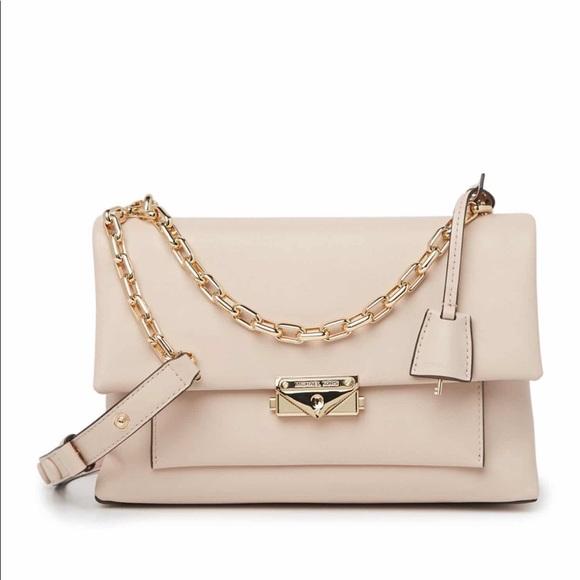 Michael Kors Cece Chain Strap Leather Shoulder Bag